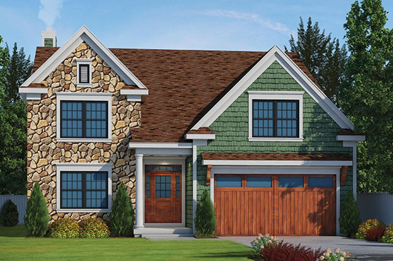 Architectural House Design - Country Exterior - Front Elevation Plan #20-2252