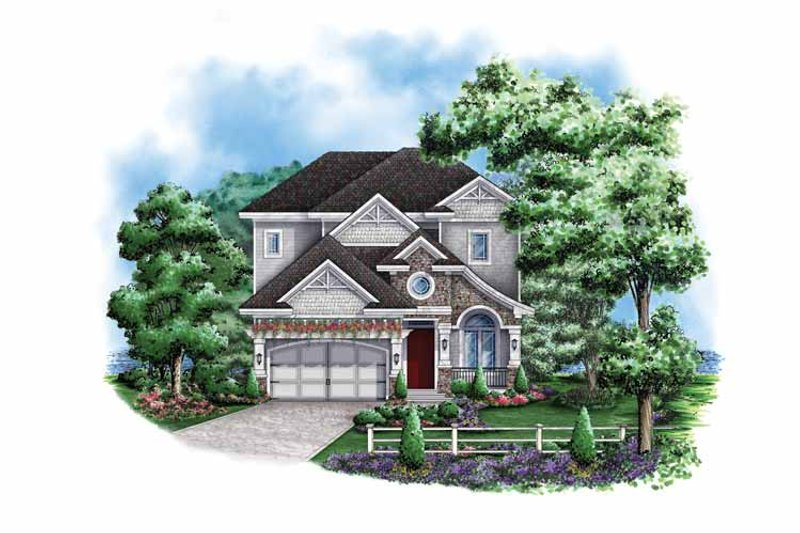 Traditional Exterior - Front Elevation Plan #1017-128