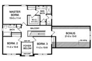 Traditional Style House Plan - 3 Beds 2.5 Baths 1969 Sq/Ft Plan #1010-143 Floor Plan - Upper Floor Plan