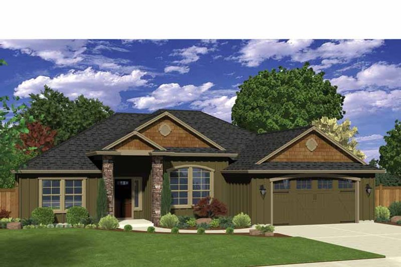 Ranch Exterior - Front Elevation Plan #943-33 - Houseplans.com