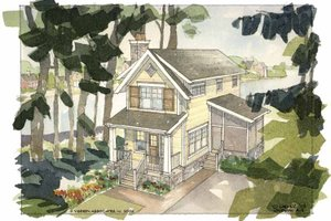 Craftsman Exterior - Front Elevation Plan #928-92