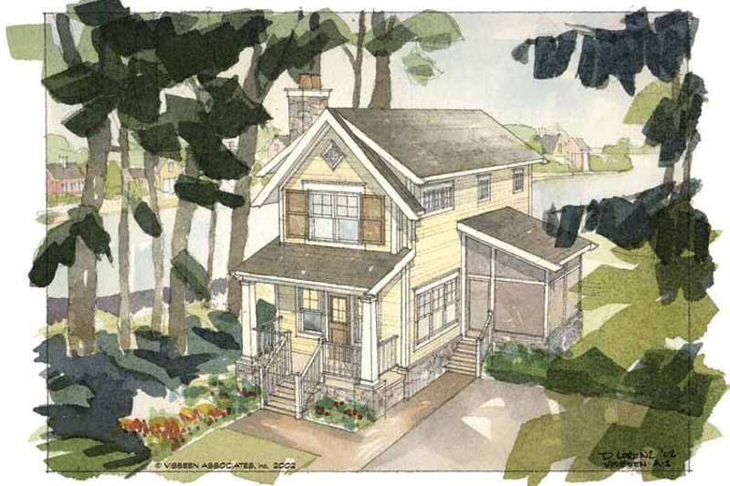 Architectural House Design - Craftsman Exterior - Front Elevation Plan #928-92