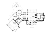 Log Style House Plan - 5 Beds 4 Baths 5611 Sq/Ft Plan #928-258 Floor Plan - Main Floor Plan
