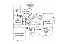 Country Floor Plan - Main Floor Plan Plan #314-272