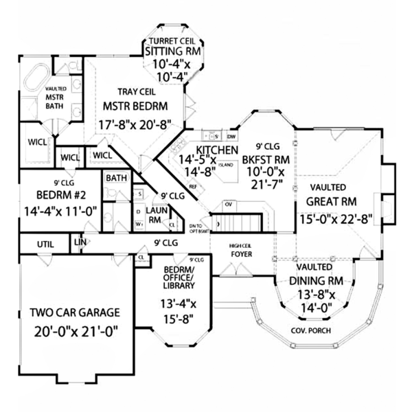 Country Floor Plan - Main Floor Plan Plan #314-272