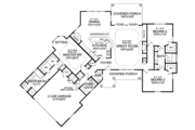 Craftsman Style House Plan - 3 Beds 2.5 Baths 2065 Sq/Ft Plan #314-270 Floor Plan - Main Floor