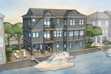 Contemporary Exterior - Rear Elevation Plan #928-270