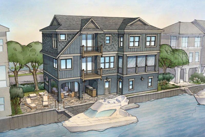 Contemporary Exterior - Rear Elevation Plan #928-270 - Houseplans.com