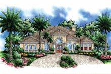 Home Plan - Mediterranean Exterior - Front Elevation Plan #1017-51