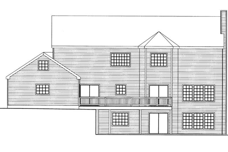 Country Exterior - Rear Elevation Plan #117-835 - Houseplans.com