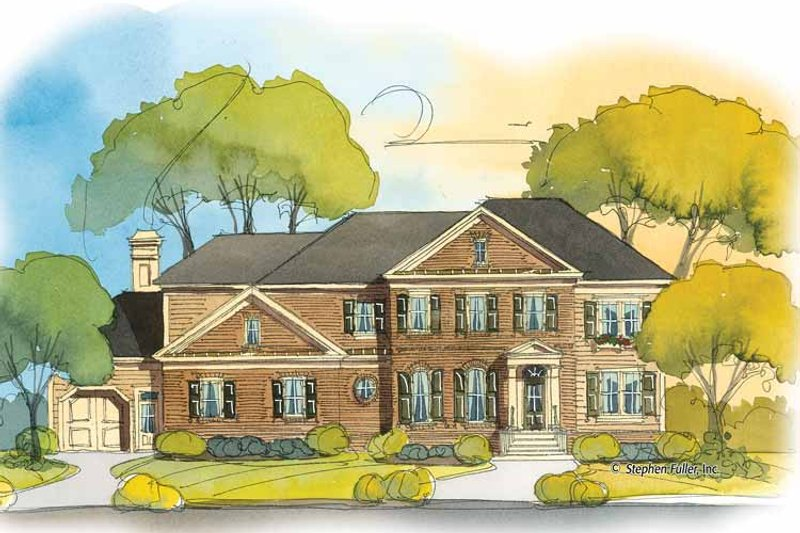 Colonial Exterior - Front Elevation Plan #429-390