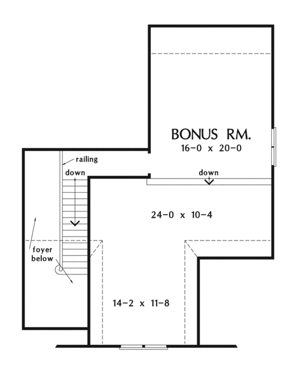 Craftsman Floor Plan - Other Floor Plan Plan #929-916