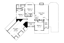 Colonial Floor Plan - Upper Floor Plan Plan #927-866
