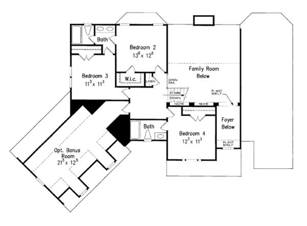 House Design - Colonial Floor Plan - Upper Floor Plan #927-866