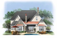 House Design - Cottage Exterior - Rear Elevation Plan #929-841