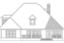 Craftsman Exterior - Rear Elevation Plan #17-2807