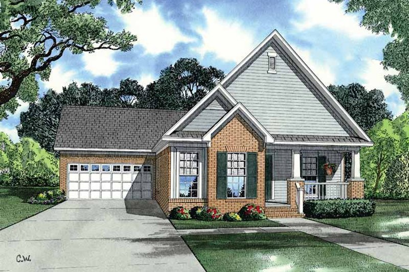 Country Exterior - Front Elevation Plan #17-2905 - Houseplans.com