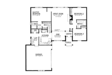 Country Floor Plan - Main Floor Plan Plan #1016-101
