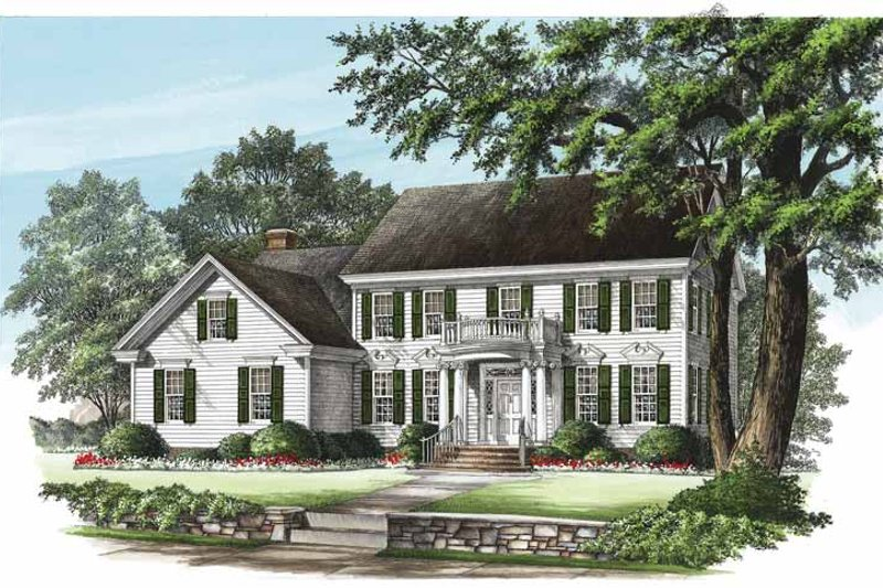 Architectural House Design - Classical Exterior - Front Elevation Plan #137-321