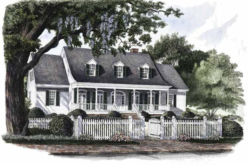 Classical Exterior - Front Elevation Plan #137-298