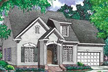 European Exterior - Front Elevation Plan #17-2985