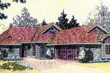 House Plan Design - Craftsman Exterior - Front Elevation Plan #310-1215