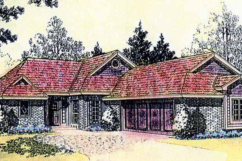 Dream House Plan - Craftsman Exterior - Front Elevation Plan #310-1215