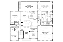 Colonial Floor Plan - Main Floor Plan Plan #119-415