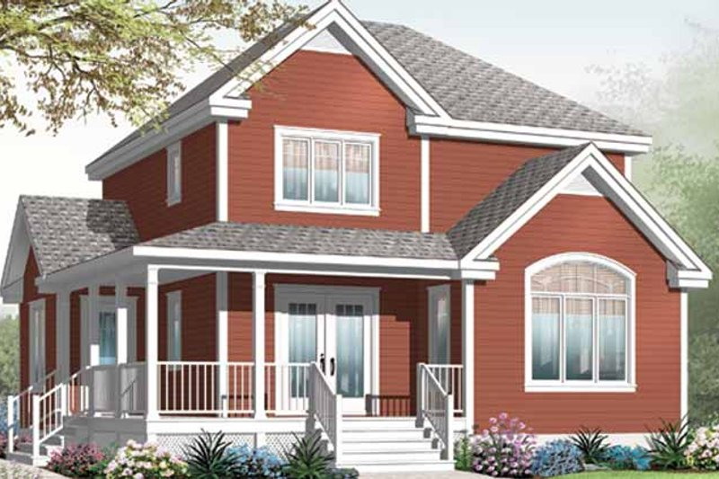House Plan Design - Country Exterior - Front Elevation Plan #23-2464