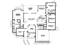 Ranch Floor Plan - Main Floor Plan Plan #472-168