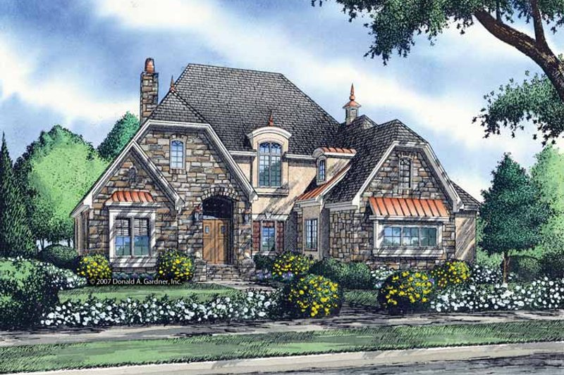 Cottage Exterior - Front Elevation Plan #929-841