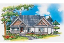 Craftsman Exterior - Front Elevation Plan #929-332