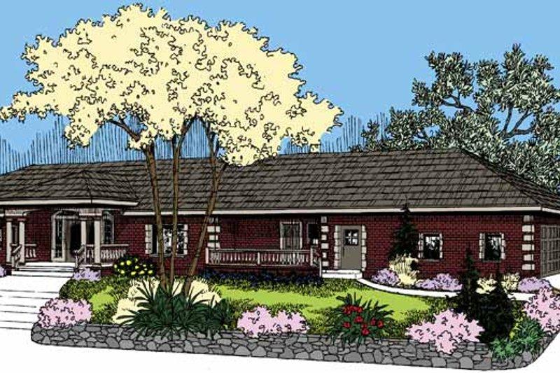 Dream House Plan - European Exterior - Front Elevation Plan #60-1027