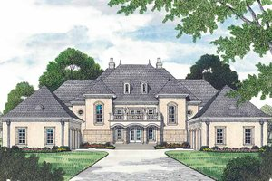 Dream House Plan - European Exterior - Front Elevation Plan #453-472