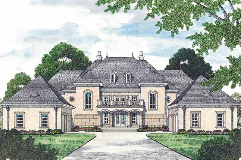 Architectural House Design - European Exterior - Front Elevation Plan #453-472