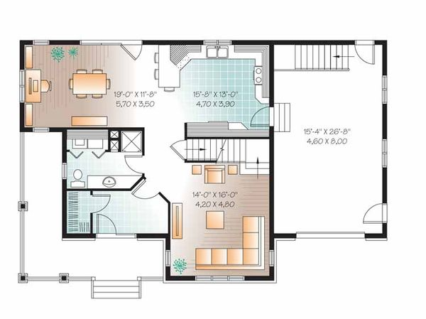 Country Floor Plan - Main Floor Plan Plan #23-2555