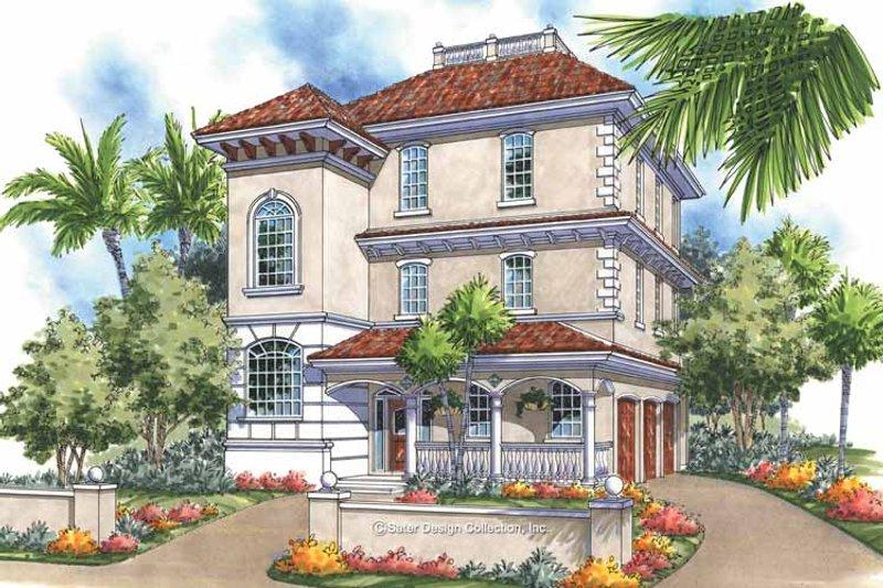 House Plan Design - Mediterranean Exterior - Front Elevation Plan #930-167