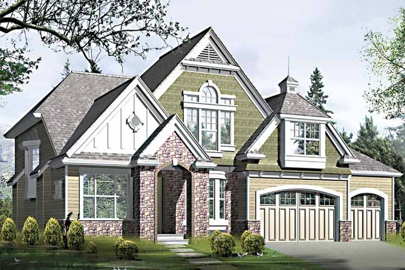 Country Exterior - Front Elevation Plan #132-416 - Houseplans.com