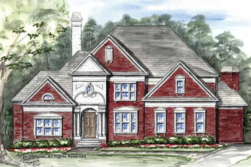 Traditional Exterior - Front Elevation Plan #54-331 - Houseplans.com