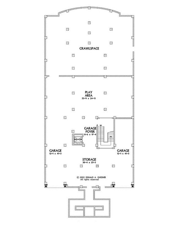 Mediterranean Floor Plan - Other Floor Plan Plan #929-900