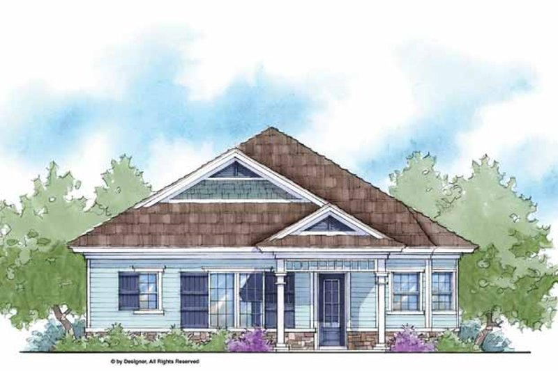 Country Exterior - Front Elevation Plan #938-8 - Houseplans.com