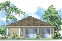 House Design - Mediterranean Exterior - Rear Elevation Plan #930-380
