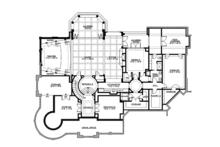 Craftsman Floor Plan - Lower Floor Plan Plan #132-565