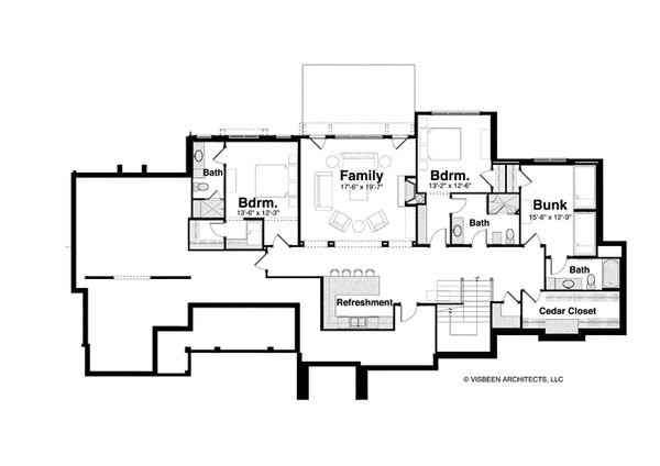 Country Floor Plan - Lower Floor Plan Plan #928-264