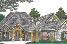 European Exterior - Front Elevation Plan #310-1275