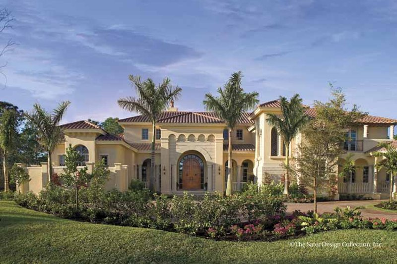 House Plan Design - Mediterranean Exterior - Front Elevation Plan #930-398