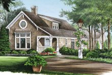 Colonial Exterior - Front Elevation Plan #137-324