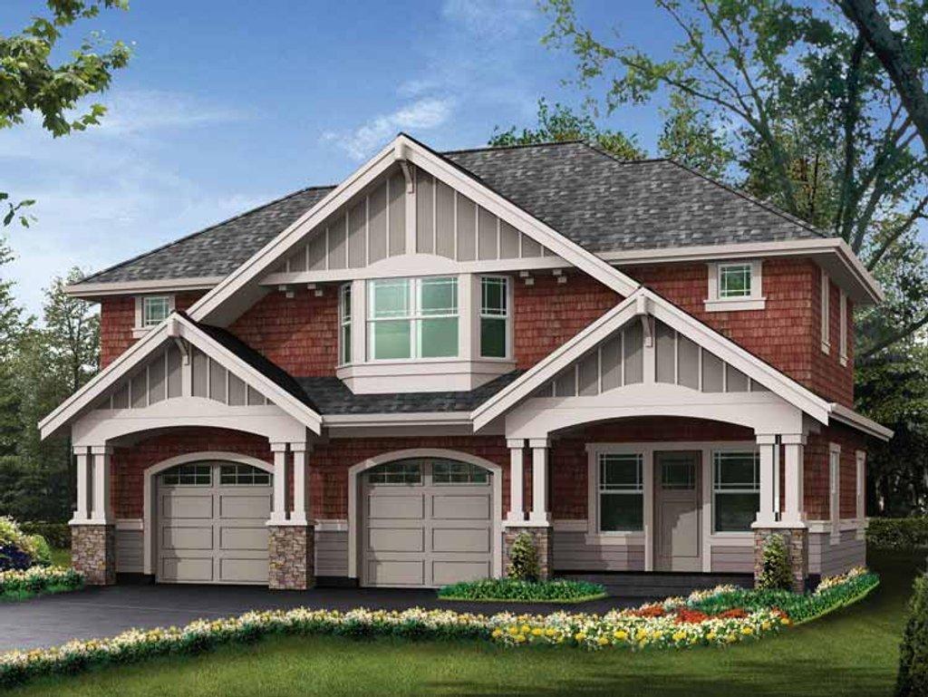 Craftsman style house plan 0 beds 1 baths 1660 sq ft for Craftsman garage planner