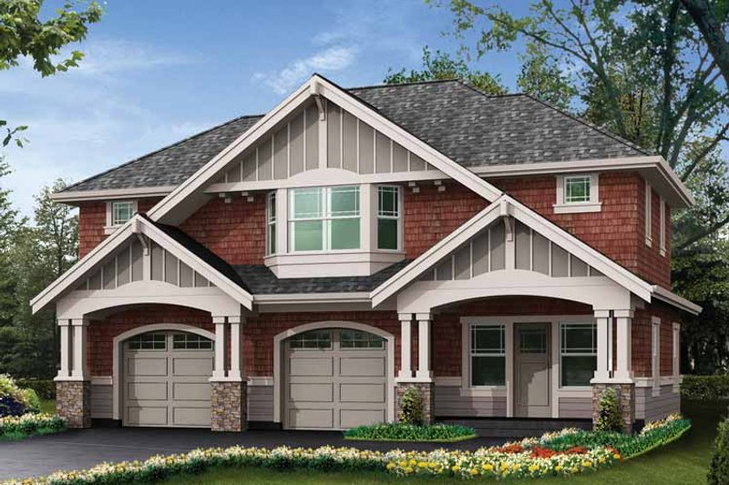 Craftsman Exterior - Front Elevation Plan #132-283 - Houseplans.com