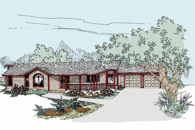 Ranch Exterior - Front Elevation Plan #60-979
